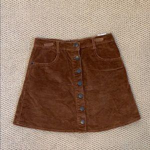 Brandy Melville | corduroy skirt| small